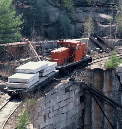 rail line transport fletcher granite