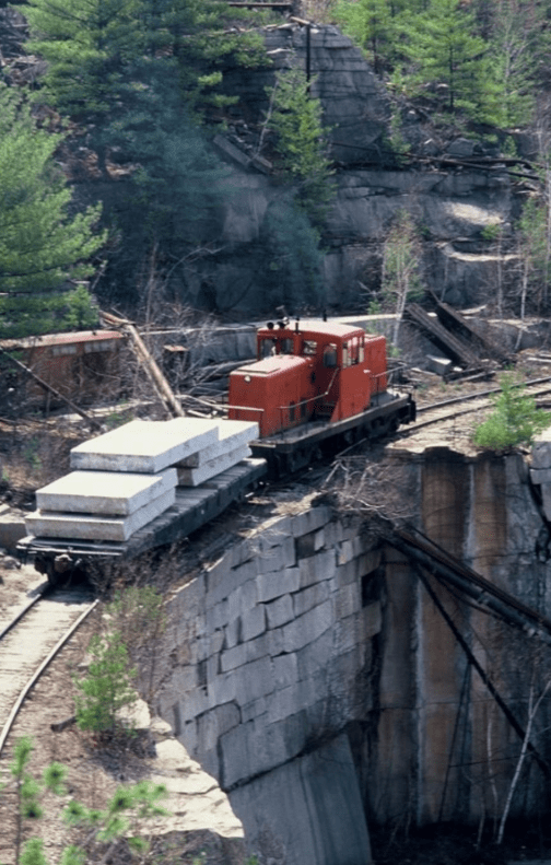 rail line transport fletcher granite